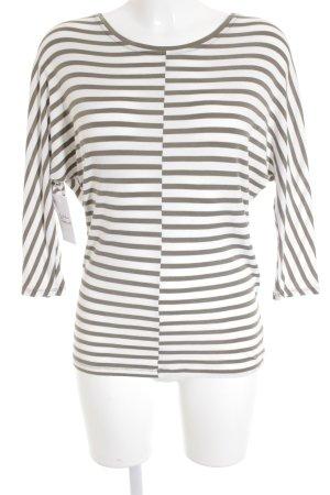 Marccain Sports Sweatshirt anthrazit-wollweiß Streifenmuster sportlicher Stil