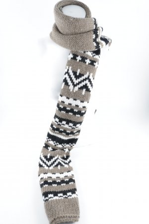 Marccain Knitted Scarf mixed pattern casual look
