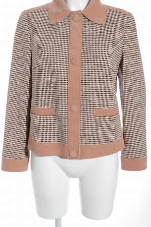 Marccain Sweatblazer apricot-schwarz Business-Look