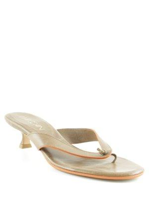 Marccain Sandalo toe-post marrone-grigio-arancione scuro stile spiaggia