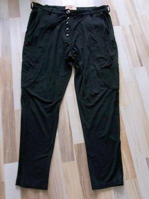 Marcel Ostertag, ausgefallene lässig fallende schwarze Stoffhose, Größe 40