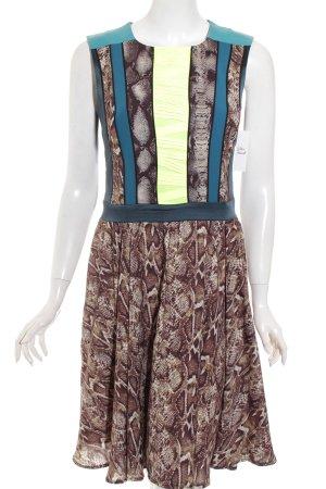 Marcel Ostertag Kleid mehrfarbig extravaganter Stil