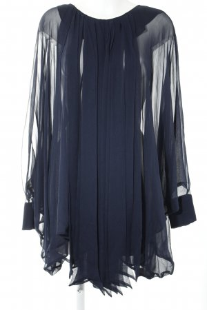 Marcel Ostertag Oversized Bluse dunkelblau Boho-Look