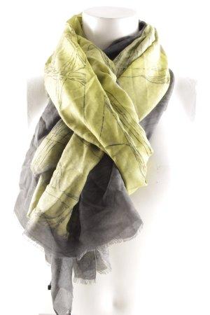 Marcell von Berlin Halstuch anthrazit-olivgrün abstrakter Druck