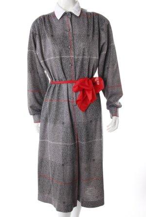 Marcelle Griffon Vintage Blusenkleid grau gemustert