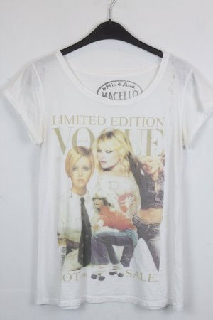 Marcello Shirt T-Shirt Gr. M weiß mit VOGUE-Cover Print und Glitzer Applikation (18/4/104)