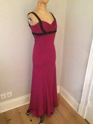 Marchesa Notte Abend Gala Kleid 100% Seide neuwertig Gr. 34