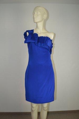 Marchesa Notte Kleid US 4 / D 34-36 royalblau Seide wneu