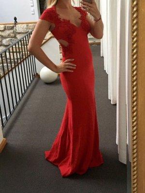 Marchesa Notte - Langes Kleid mit Stickerei (NP 1.535 EUR)