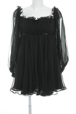 Marchesa Seidenbluse schwarz Elegant