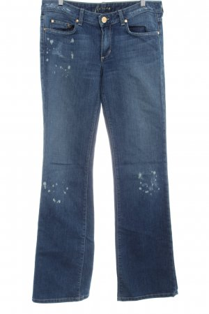 Marciano Boot Cut Jeans himmelblau-creme Farbtupfermuster Casual-Look