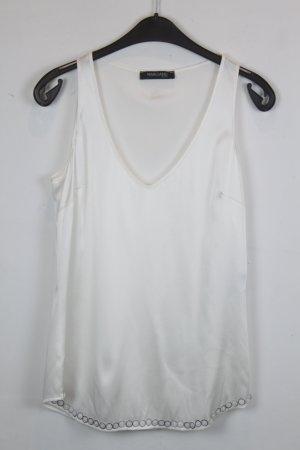 Marciano Guess Top Seidentop Gr. M weiß, silk mit silbernen Pailletten (18/4/346)