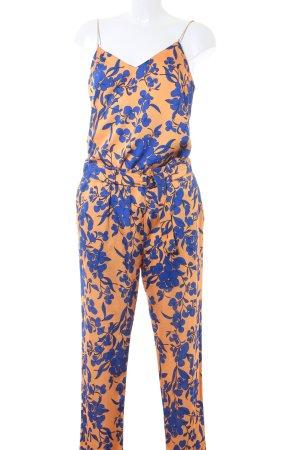 Marciano Broekpak licht Oranje-blauw bloemen patroon extravagante stijl