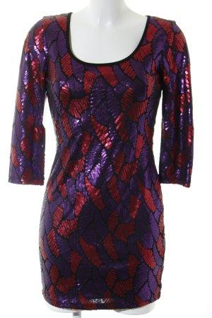 Marciano Vestido de lentejuelas rojo-lila estilo extravagante