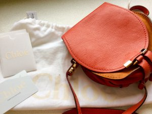 Chloé Crossbody bag brick red leather