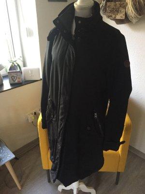 Gewatteerde jas donkerblauw-grijs