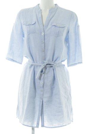 Marco Pecci Blusenkleid blau schlichter Stil