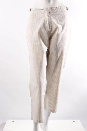 Marco Pecci Caprihose beige-weiß