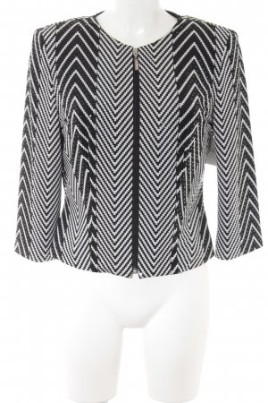 Marco Pecci Kurz-Blazer schwarz-weiß abstraktes Muster Party-Look