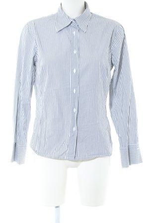 Marco Pecci Langarmhemd blau-weiß Streifenmuster Business-Look