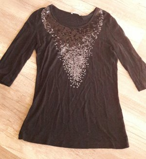 Marco Pecci Shirt 3/4Arm Pailletten Glitzer Sequin