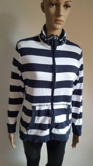 Marco Pecci Sweat Jacket dark blue-white