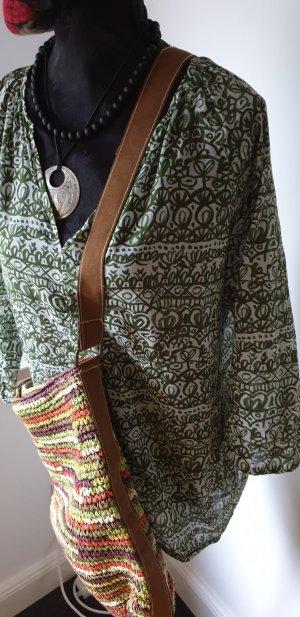 Marc O'Polo Slip-over blouse wit-khaki