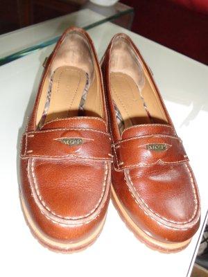 Marco Polo braune Leder-Schuhe