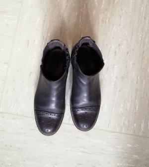 Marco Polo Damen Leder Stiefeletten schwarz, Marc O'Polo Ankle Boots Größe 38,