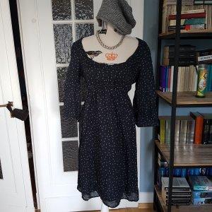Marco Polo Kleid 42 Grau mit Pünktchen