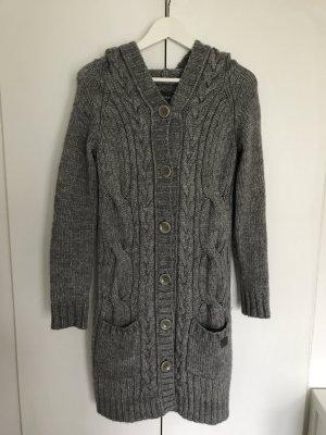 Gilet tricoté gris foncé-gris coton