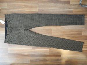 Marco Polo Marc´o Polo Leggins Jeggins treggins Stoffhose Hose Five Pocket Optik bequem fest olive grün khaki Muster Allover