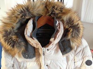 MARCO POLO Winter-Langjacke Daunen, helles creme-weiß