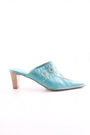 Marco Tozzi Heel Pantolettes turquoise business style