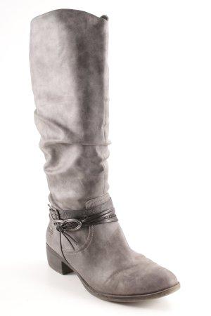 Marco Tozzi Absatz Stiefel dunkelgrau-grau schlichter Stil