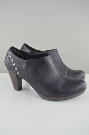Marco Tozzi Ankle Boots Nieten schwarz Größe 38