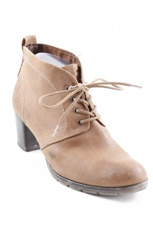 Marco Tozzi Booties braun Casual-Look