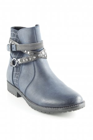 Marco Tozzi Booties dunkelblau Casual-Look