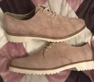 Marco Tozzi Budapester Schuhe Schnürschuhe rosa weiß Wildleder 41 neu