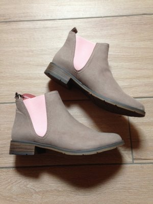 Marco Tozzi Chelsea Boots Größe 40 taupe hellrosa