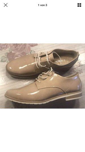 Marco Tozzi Damen Schnürschuhe Schuhe Budapester beige Creme 41 neu
