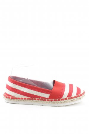 Marco Tozzi Espadrilles-Sandalen rot-weiß Streifenmuster Casual-Look