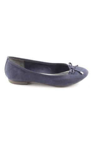 Marco Tozzi faltbare Ballerinas blau Casual-Look
