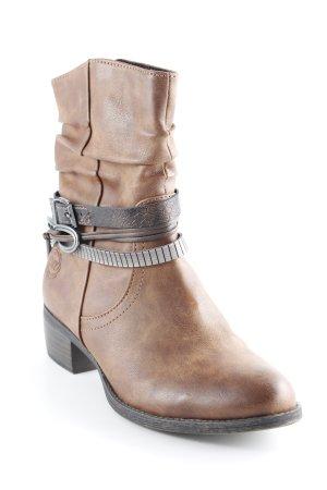 Marco Tozzi Halfhoge laarzen bruin-zwart bruin casual uitstraling