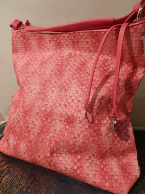 MARCO TOZZI Handtasche Fuchsia pink - attraktives Flechtmuster - shopper - neu