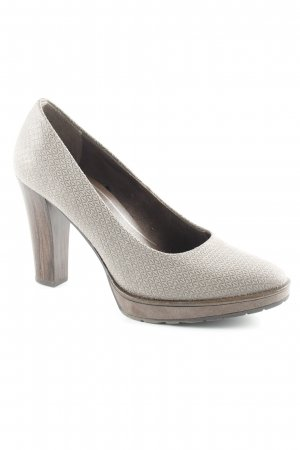 Marco Tozzi High Heels abstraktes Muster Business-Look