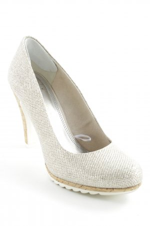 Marco Tozzi High Heels goldfarben-wollweiß Elegant