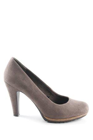 Marco Tozzi High Heels graubraun schlichter Stil