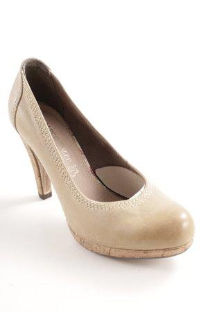 Marco Tozzi High Heels sandbraun Casual-Look