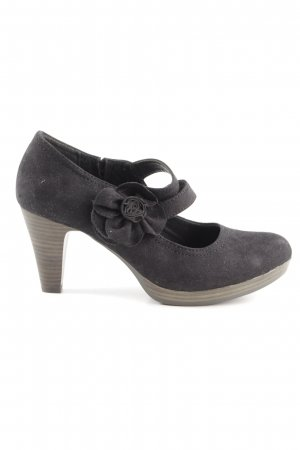 Marco Tozzi Mary Jane Pumps schwarz Blumenmuster Business-Look